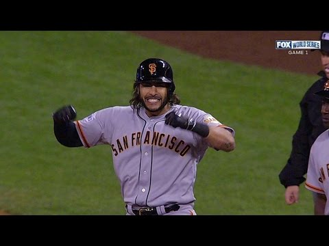 WS2014 Gm1: Morse scores Pence with single to center