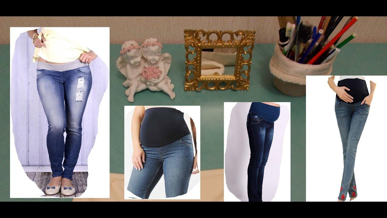 Как переделать штаны для беременных своими 57