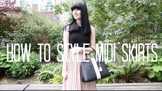 How To Style - Midi Skirts | LivLoren