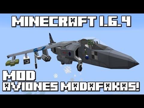 Minecraft 1.6.4 MOD AVIONES MADAFAKAS!