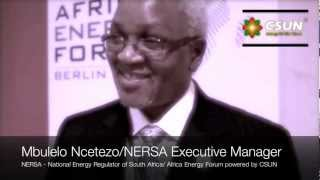 CSUN Solar Energy Interviews: Mbulelo Ncetezo - NERSA Executive Manager South Africa 2012