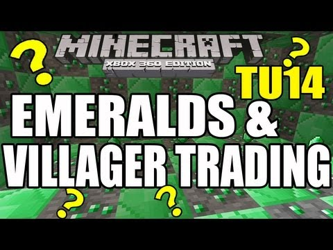 Minecraft (PS3 / XBOX360) TU14 Features - Emeralds & Villager Trading Explained [TU14]