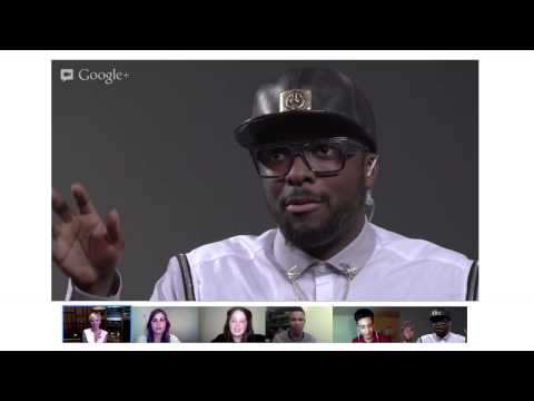 will.i.am YT Livestream with G+ Hangout