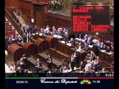 20 Aprile 2013: Giorgio Napolitano eletto Presidente della Repubblica