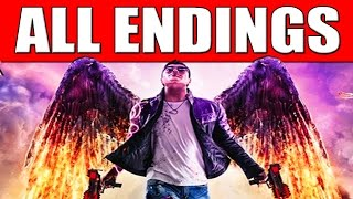 """Saints Row Gat Out of Hell Ending - All Endings Final Boss Satan """"Gat Out of Hell All 5 Endings"""""""