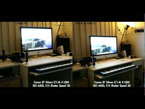 CANON 5D Mark III VS 7D (Noise Performance) Digic V+ vs Digic IV