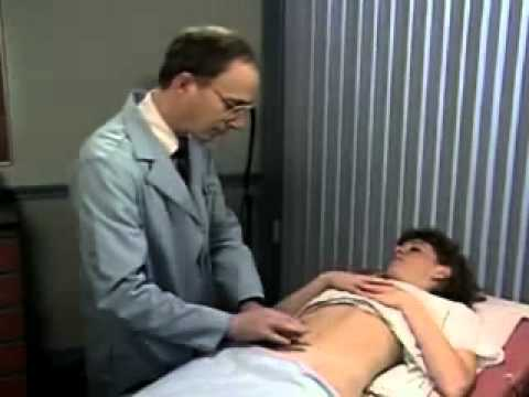 woman examination on the belly