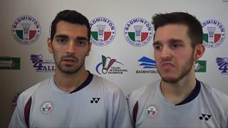18° Yonex Italian international - Intervista a Giovanni Greco e Kevin Strobl