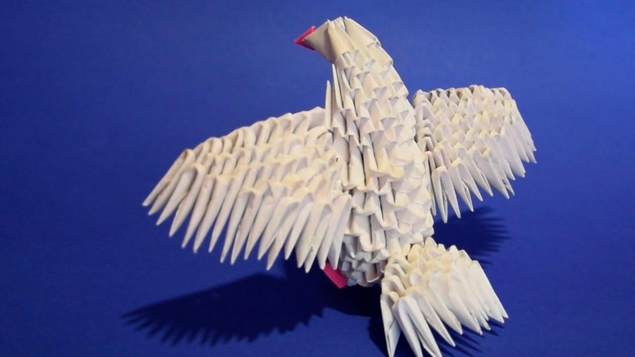 Голубь из бумаги. Делаем с ребенком бумажного голубя. Шаблон 24