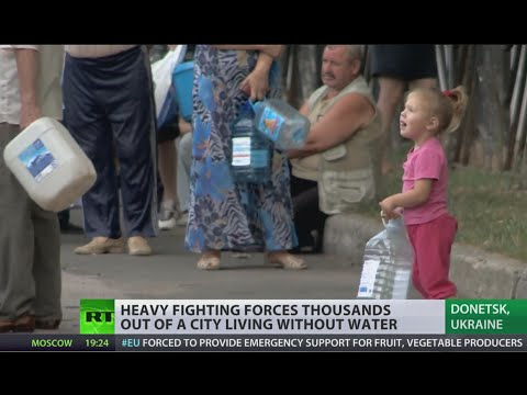 Ghost Town: Thousands flee Donetsk as Ukrainian army closes in