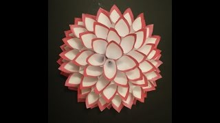 Diwali Wall Or Door Decoration Ganpati Wreath Paper Craft Giant Flower