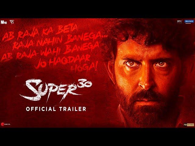 Super 30 | Official Trailer | Hrithik Roshan | Vikas Bahl | July 12 thumbnail
