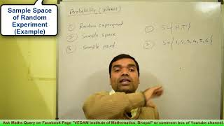 Probability - Concept of Random experiment, Sample space & Event in Hindi(lecture 1)