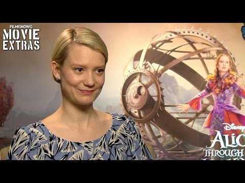 Mia Wasikowska talks about Alice Through the Looking Glass (2016)