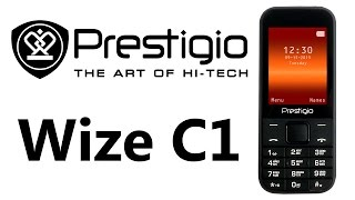 Prestigio Wize C1 Duo Black inexpensive, simple mobile phone