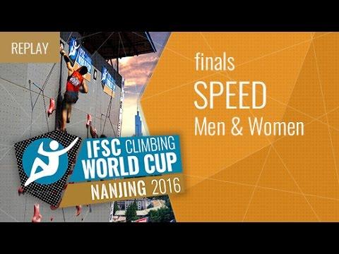 IFSC Climbing World Cup Nanjing 2016 - Speed - Finals - Men/Women