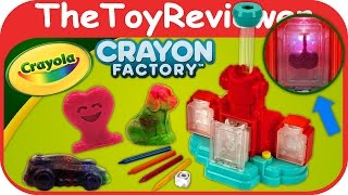 Crayola Crayon Factory 2016 Melting Melt N Mold Unboxing Toy Review by TheToyReviewer