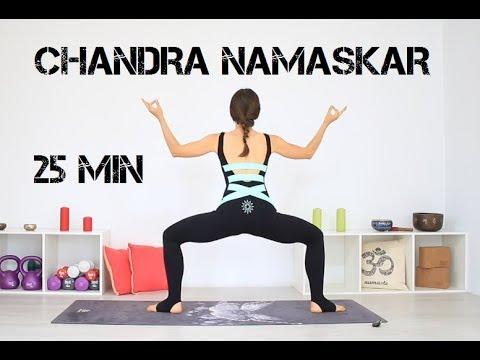 Йога: Приветствие Луне Chandra Namaskar 25 мин | chilelavida