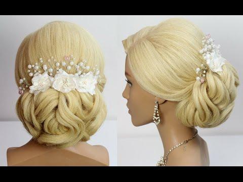 Wedding hairstyle for long medium hair tutorial Bridal prom updo
