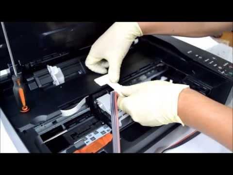 Instalación del sistema de tinta en la Canon MP230