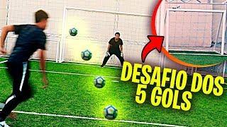 DESAFIO DOS 5 GOLS!!! - DESAFIOS DE FUTEBOL