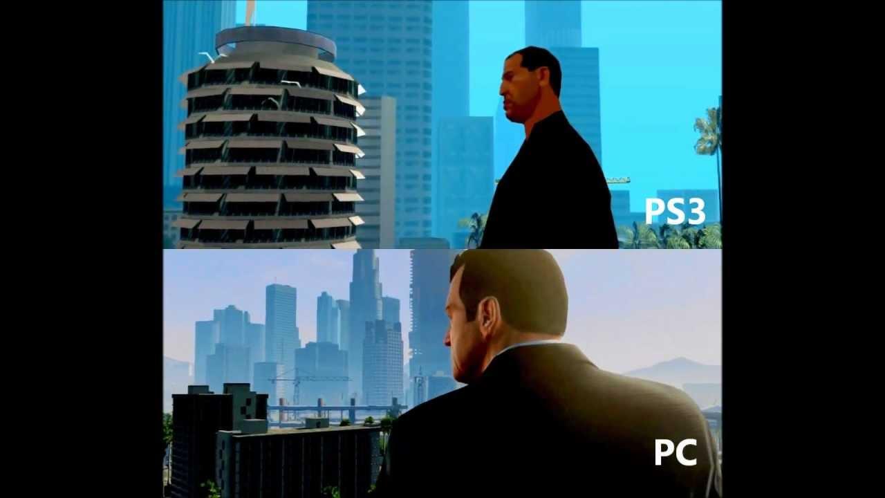 Gta 5 pc Gameplay Gta 5 Gameplay pc vs Ps3