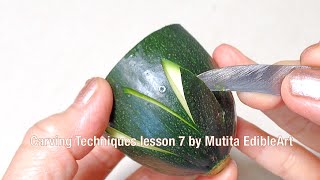 How to Angle the Knife | Carving Petals | Techniques Tips Lesson 7 | Mutita Art Of Fruit And Veg