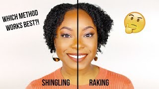 Raking vs. Shingling to Define Your Curls | Which Method Gives THE BEST Results?! (Detailed)