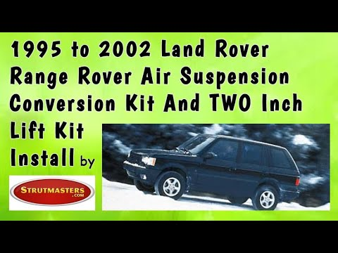 Range Rover Air Suspension   Shock And Coil Spring Replacement With A 2