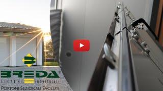 Serratura a 4 punti di Chiusura per porte pedonali inserite nei portoni sezionali Breda
