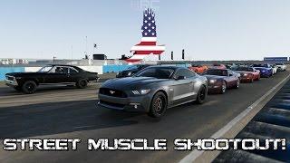 Forza Motorsport 6 | Street Muscle Shootout! | No Prep Drags w/ Nova SS, WS6, S550, C7Z & More