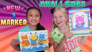 3 Marker Challenge with My Friend!!