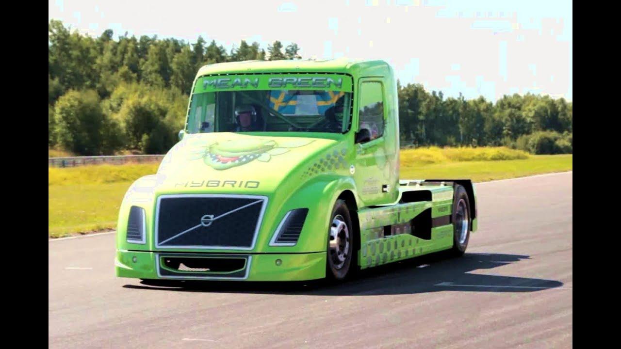 Race Truck Hybrid Volvo VN Mean Green Boije Ovebrink Trailer Trucking Festival Mantorp - YouTube