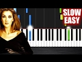 Celine Dion My Heart Will Go On SLOW EASY Piano Tutorial By PlutaX mp3