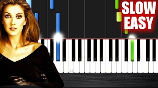 Celine Dion My Heart Will Go On Slow Easy Piano Tutorial By Plutax