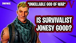 Survivalist Jonesy Review *UNKILLABLE GOD OF WAR* | Fortnite Save the World | TeamVASH