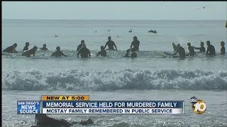 Memorial, paddle out held for McStay family
