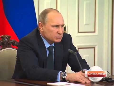 Vladimir Putin blames Kiev for gas supply cut in Ukraine's east