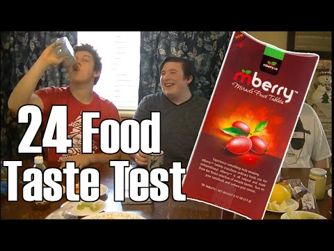 24 Food Taste Test w/ mBerry Miracle Fruit Tablets!