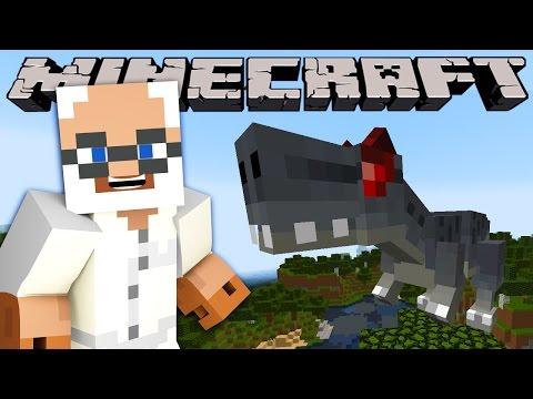 Minecraft - DINOSAUR UPDATE - VISTING JURRASIC PARK (Fossils & archaeology, dinosaurs mod)