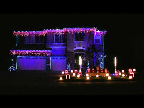Halloween Light Show 2010 HD - Sandstorm Techno ( Darude ) Music Videos