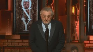 Robert De Niro uses profanity to denounce Trump at Tony Awards
