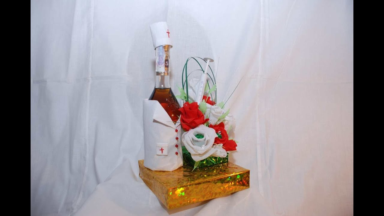 Подарок из бутылки своими руками