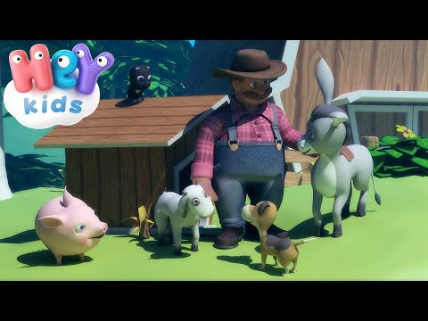 Домашние животные для детей - Как говорят животные? - На ферме