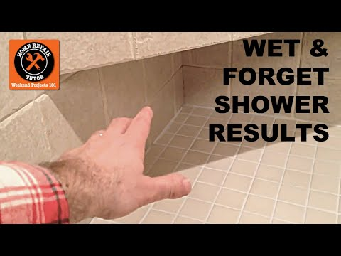 Wet and Forget Shower Experiment -- by Home Repair Tutor