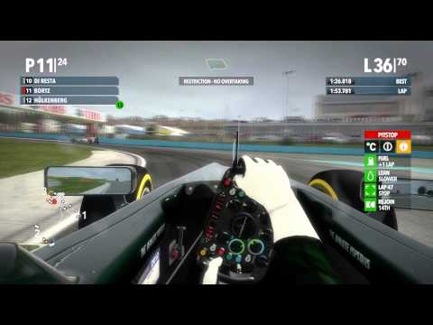 F1 2012 100% Budapest, Hungary with Full Commentary