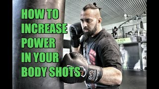How to Increase POWER in your Body Shots   4-Count Body Shot Drill   Heavy Bag   Boxing   Muay Thai