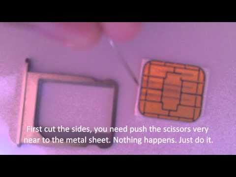 SIM Cutting for iPhone4
