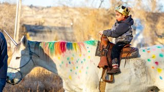 Boy Battling Cancer Saddles Up on His Very Own 'Unicorn'