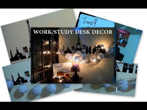 DIY/DECOR inspiration Ep1: Beautify the work/study desk area! :D